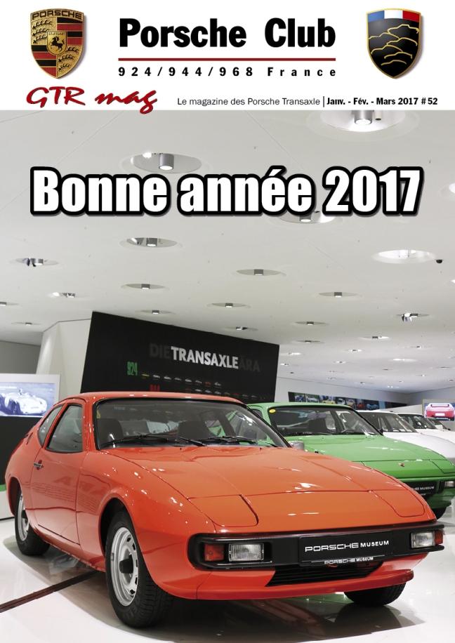 couverture du magazine du Porsche Club 924-944-968 n°52 du 1er trimestre 2017